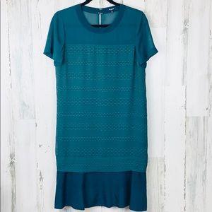 MADEWELL GORGEOUS BURNOUT SHIFT DRESS NWOT